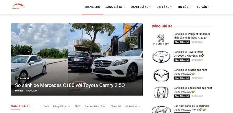 Muaxehoitragop.net: Web đánh giá xe ô tô uy tín hàng đầu Việt Nam