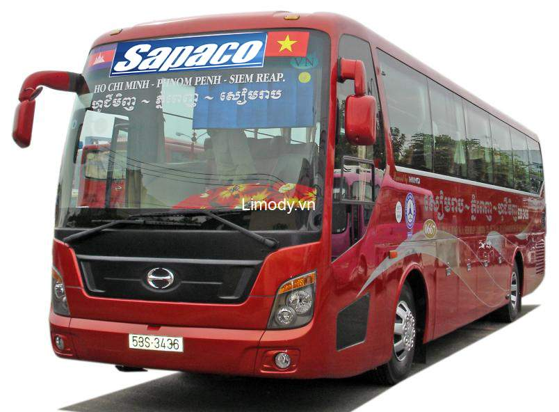 Xe Sapaco: Bến xe, giá vé, số điện thoại đặt vé, lịch trình đi Campuchia
