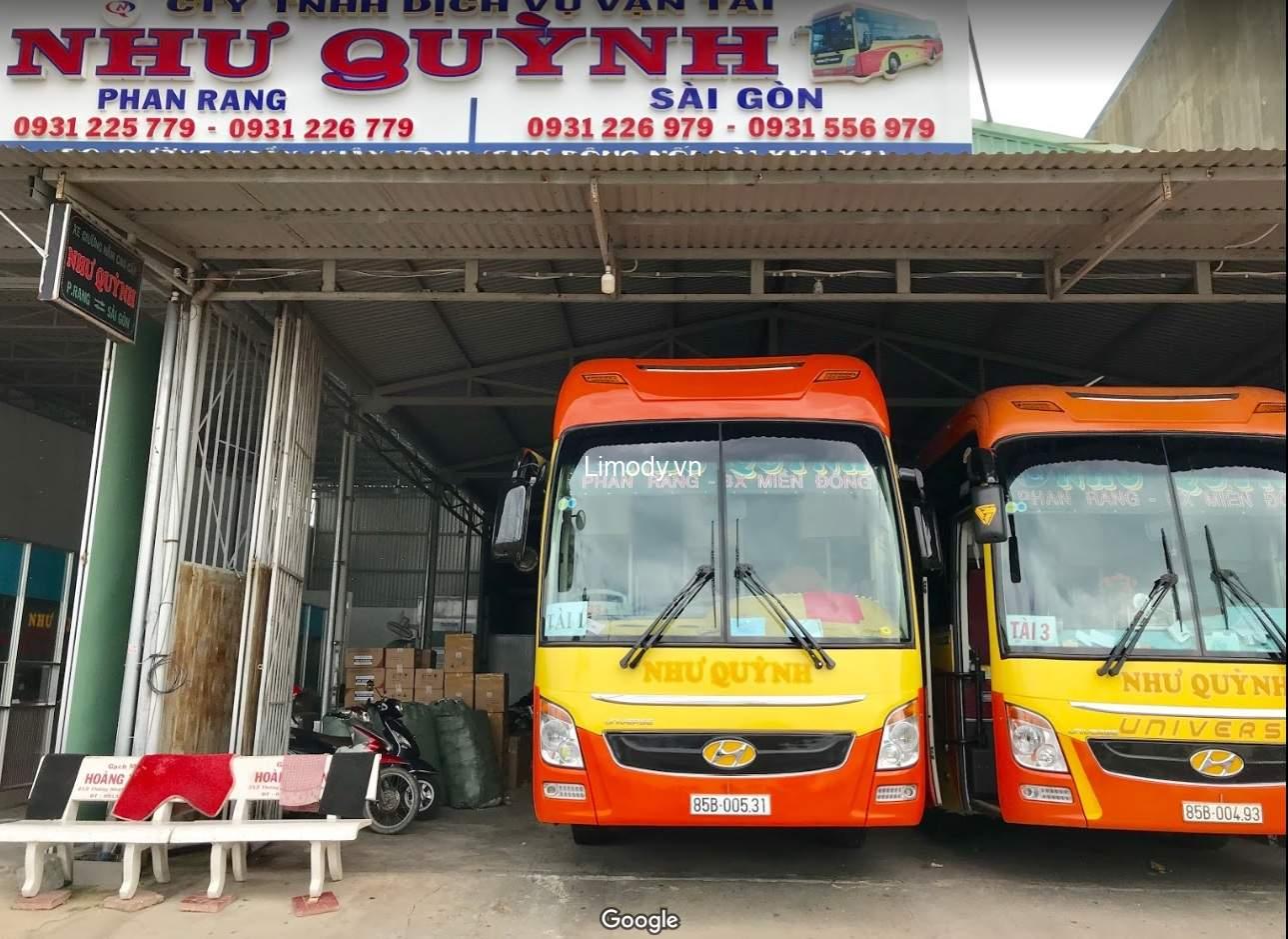 Xe Như Quỳnh: Bến xe, giá vé, số điện thoại đặt vé, lịch trình đi Ninh Thuận