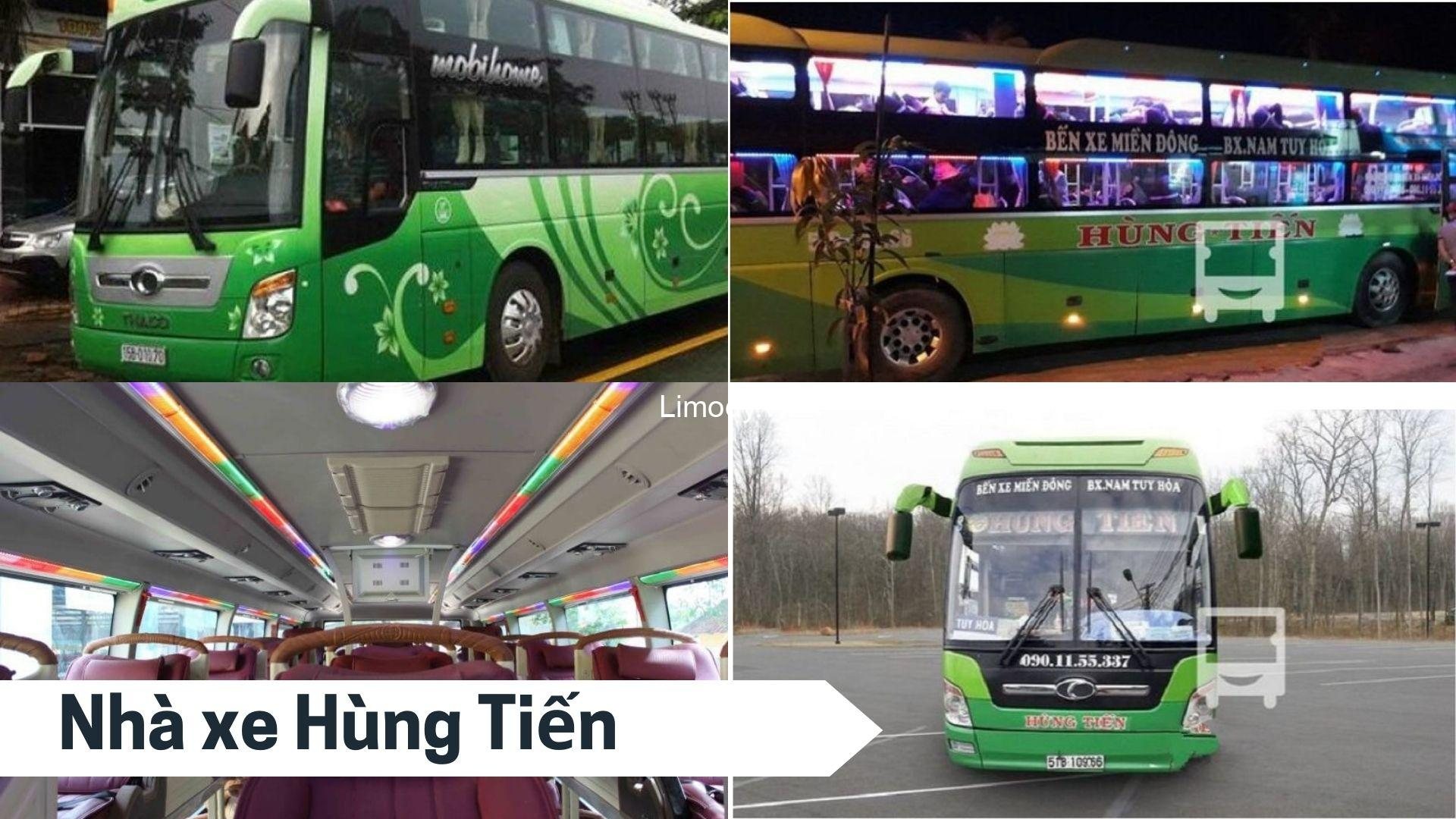 Xe Hùng Tiến: Bến xe, giá vé, số điện thoại đặt vé đi Phú Yên Sài Gòn