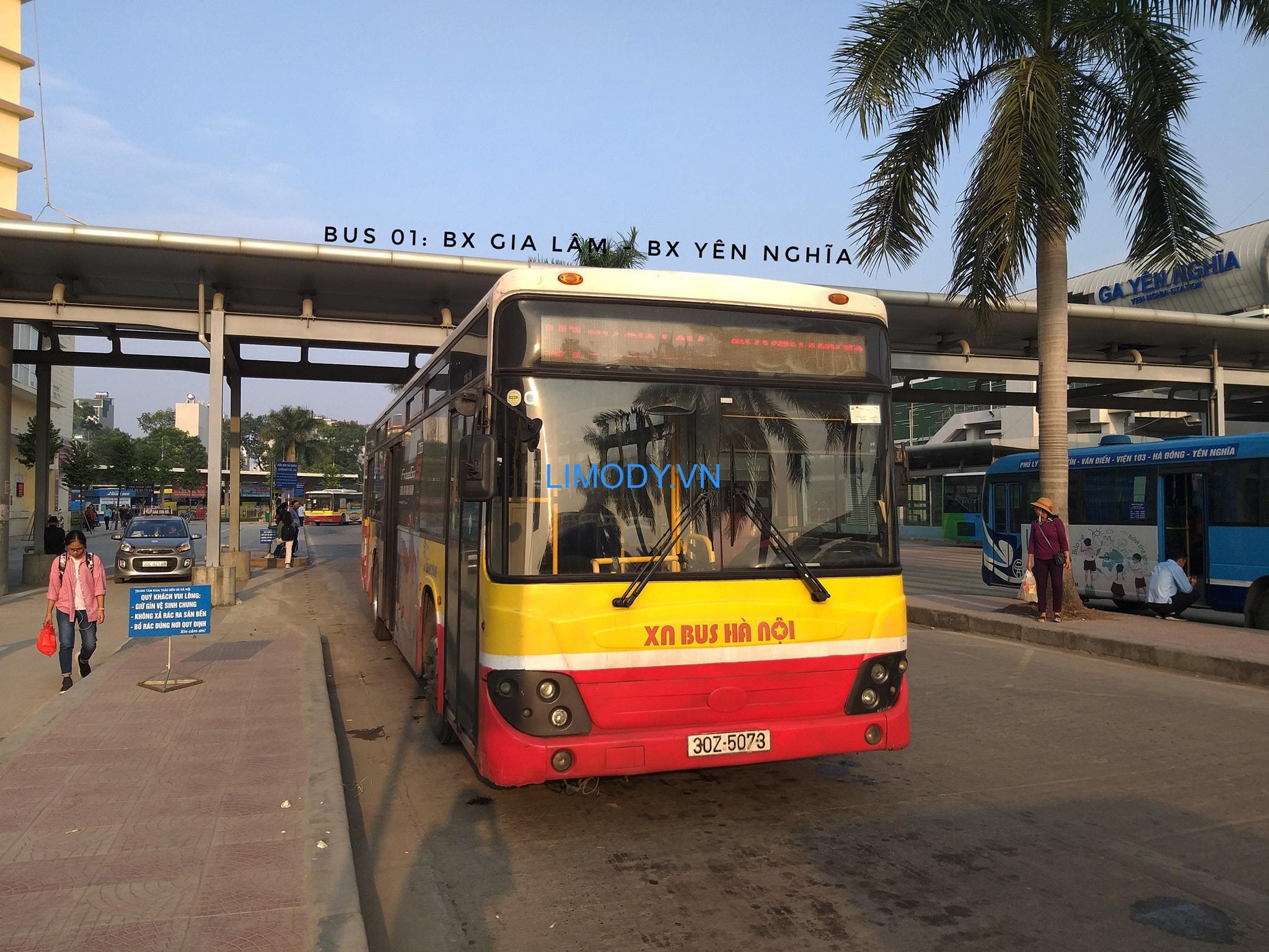 Danh sách lộ trình các tuyến xe bus đi từ bến xe Yên Nghĩa chi tiết A-Z